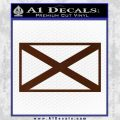 Alabama State Flag Decal Sticker Official 22 120x120
