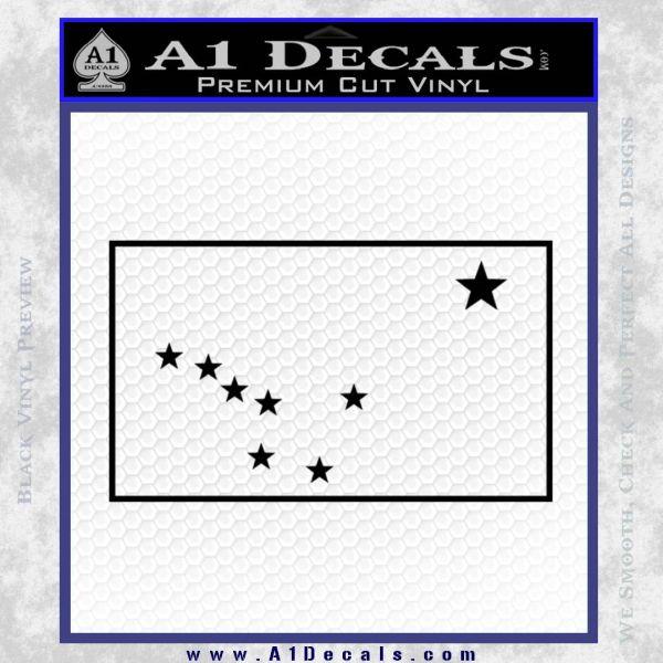 Alaska State Flag Decal Sticker Black Vinyl