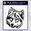 Alaskan Wolf Head Decal Sticker D2 Black Vinyl 120x120