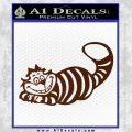 Alice In Wonderland Cheshire Cat Decal Sticker BROWN Vinyl 120x120