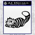Alice In Wonderland Cheshire Cat Decal Sticker Black Vinyl 120x120
