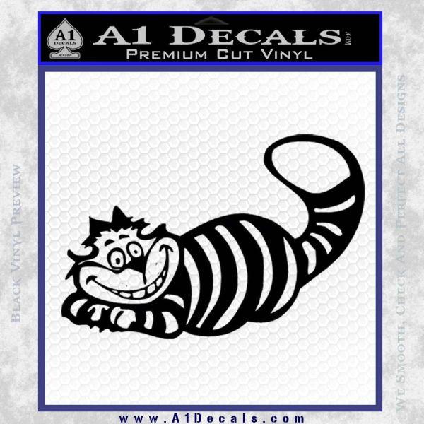 Alice In Wonderland Cheshire Cat Decal Sticker Black Vinyl