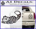 Alice In Wonderland Cheshire Cat Decal Sticker Carbon FIber Black Vinyl 120x97