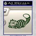 Alice In Wonderland Cheshire Cat Decal Sticker Dark Green Vinyl 120x120