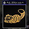 Alice In Wonderland Cheshire Cat Decal Sticker Gold Vinyl 120x120