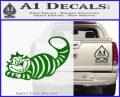 Alice In Wonderland Cheshire Cat Decal Sticker Green Vinyl Logo 120x97