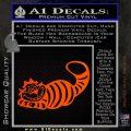 Alice In Wonderland Cheshire Cat Decal Sticker Orange Emblem 120x120
