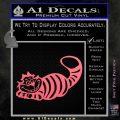 Alice In Wonderland Cheshire Cat Decal Sticker Pink Emblem 120x120