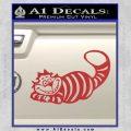 Alice In Wonderland Cheshire Cat Decal Sticker Red 120x120