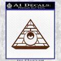 All Seeing Eye Illuminati Freemason Decal Sticker BROWN Vinyl 120x120