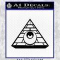 All Seeing Eye Illuminati Freemason Decal Sticker Black Vinyl 120x120