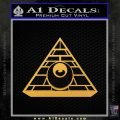 All Seeing Eye Illuminati Freemason Decal Sticker Gold Vinyl 120x120