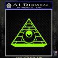 All Seeing Eye Illuminati Freemason Decal Sticker Lime Green Vinyl 120x120