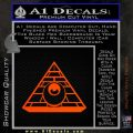 All Seeing Eye Illuminati Freemason Decal Sticker Orange Emblem 120x120