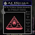 All Seeing Eye Illuminati Freemason Decal Sticker Pink Emblem 120x120