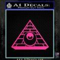 All Seeing Eye Illuminati Freemason Decal Sticker Pink Hot Vinyl 120x120