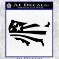 America American Flag Decal Sticker Black Vinyl 120x120