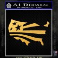 America American Flag Decal Sticker Gold Vinyl 120x120
