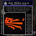 America American Flag Decal Sticker Orange Emblem 120x120
