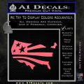 America American Flag Decal Sticker Pink Emblem 120x120