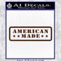 American Made Stars D2 Decal Sticker BROWN Vinyl 120x120
