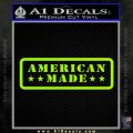 American Made Stars D2 Decal Sticker Lime Green Vinyl 120x120