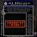 American Made Stars D2 Decal Sticker Orange Emblem 120x120