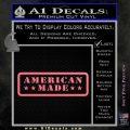 American Made Stars D2 Decal Sticker Pink Emblem 120x120