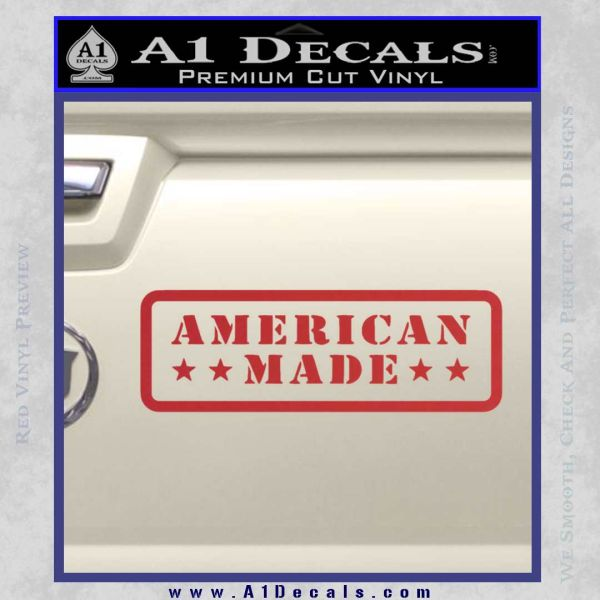 American Made Stars D2 Decal Sticker Red
