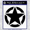 Ammo Star Decal Sticker Black Vinyl 120x120