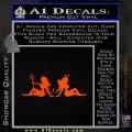 Angel Devil Girls Decal Sticker Wide Orange Emblem 120x120