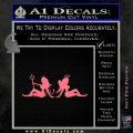 Angel Devil Girls Decal Sticker Wide Pink Emblem 120x120