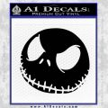 Angry Jack Skellington Skull Decal Black Vinyl 120x120
