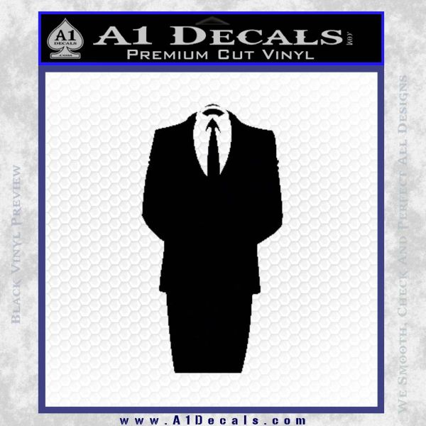 Anonymous Decal Sticker D1 Black Vinyl