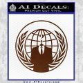 Anonymous Globe Decal Sticker BROWN Vinyl 120x120