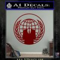 Anonymous Globe Decal Sticker DRD Vinyl 120x120