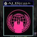Anonymous Globe Decal Sticker Pink Hot Vinyl 120x120