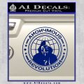 Anonymous Revolution Circle Guy Fawkes Decal Sticker Blue Vinyl 120x120