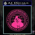 Anonymous Revolution Circle Guy Fawkes Decal Sticker Pink Hot Vinyl 120x120