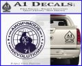 Anonymous Revolution Circle Guy Fawkes Decal Sticker PurpleEmblem Logo 120x97