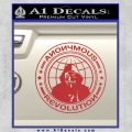Anonymous Revolution Circle Guy Fawkes Decal Sticker Red 120x120