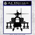 Apache Helicopter Decal Sticker Black Vinyl 120x120
