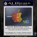Apple Pissing On Android Decal Sticker Glitter Sparkle 120x120