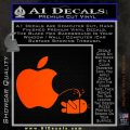 Apple Pissing On Android Decal Sticker Orange Emblem 120x120
