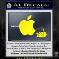 Apple Pissing On Android Decal Sticker Yellow Laptop 120x120