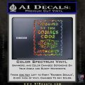 Approved By The Comics Code Decal Sticker Glitter Sparkle 120x120