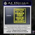 Approved By The Comics Code Decal Sticker Yellow Laptop 120x120