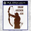 Archery Decal Sticker Draw Anchor Aim BROWN Vinyl 120x120