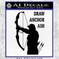 Archery Decal Sticker Draw Anchor Aim Black Vinyl 120x120
