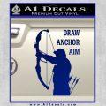 Archery Decal Sticker Draw Anchor Aim Blue Vinyl 120x120